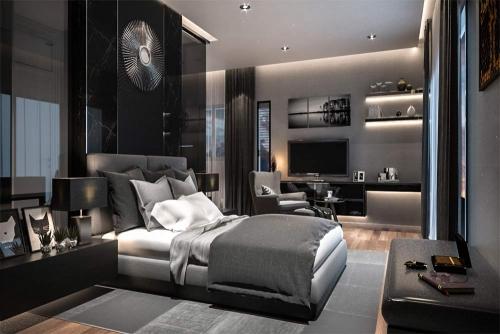 Cozy bedroom interior design Dubai